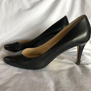 COLE HAAN Black Leather Heels Pumps Size 9